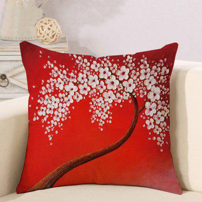 LAIMA Soft Pillowcase Plum Blossom Printed Pillow Cover