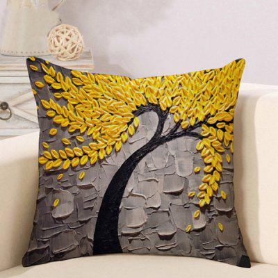 LAIMA Soft Pillowcase Tree Painting Square Pillow Cover