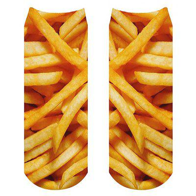 Unisex Creative 3D Printed French Fries Ankle Socks