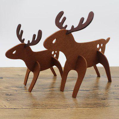 Non-woven Fabrics Christmas Elk Decoration 2PCS