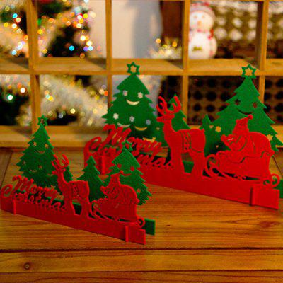 Non-woven Fabrics Christmas Decoration 2PCS