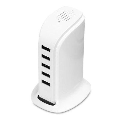 Portable USB Charger Adapter 5 Ports Charging Station