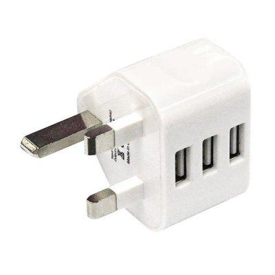 3 USB Ports Wall Charger Power Adapter Plug universal 3 usb ports car charger adapter white deep pink