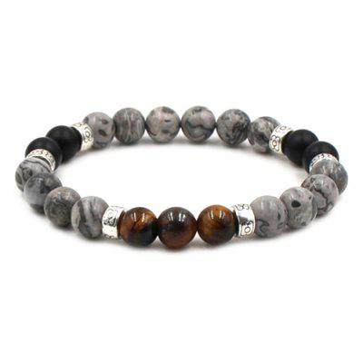 8mm Beads Lava Stone Women Yoga Bracelet
