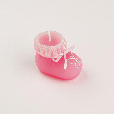 Smokeless Decoration Candle with Creative Baby Shoe Shape