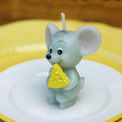 Smokeless Decoration Candle with Cheese-eating Mouse Shape