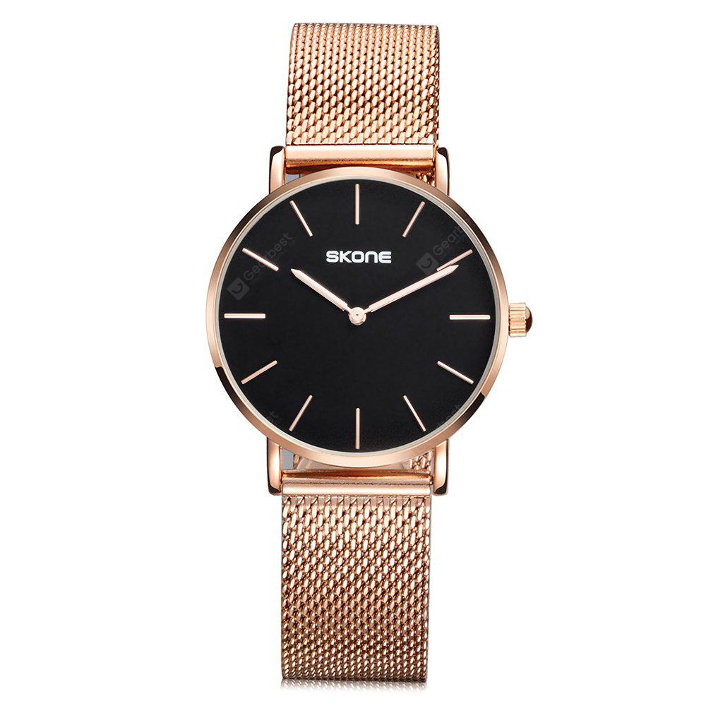 SKONE Women's Casual Mesh Steel Band Quartz Watch