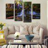 Modern Canvas Prints Flowing Water Hanging Wall Art 4PCS - COLORMIX