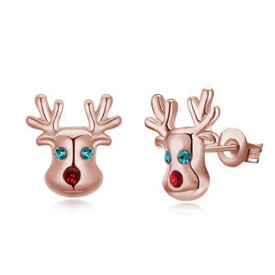 Cute Christmas Antlers Women Stud Earrings
