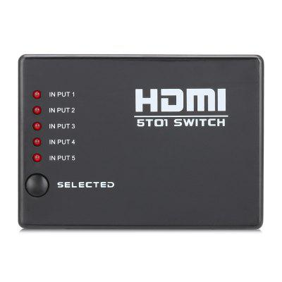 5 in 1 out HDMI Switcher Adapter with Remote Controller