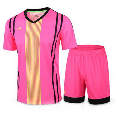 MIIRACER Male Soccer T-shirt Shorts Sports Suit