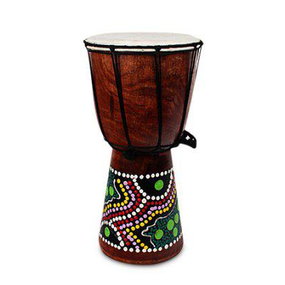 Hand-painted African Drum 6 inch Music Instrument