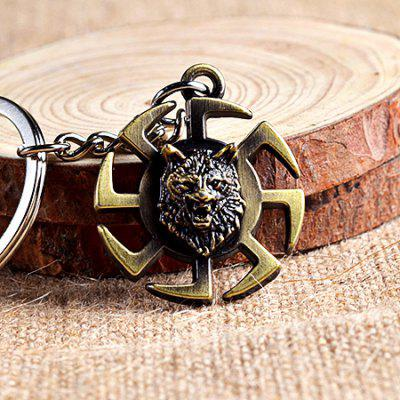 Creative Alloy Vintage Lion Head Shape Key Chain