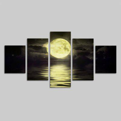 God Painting Amazing Sunset Sight Print Canvas Decor 5PCS