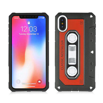 2 in 1 Classical Dirt-proof Stand Cover for iPhone X