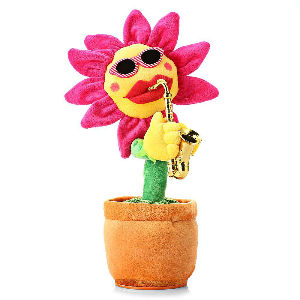 Music Dancing Electric Plush Sunflower Toy for Christmas Party