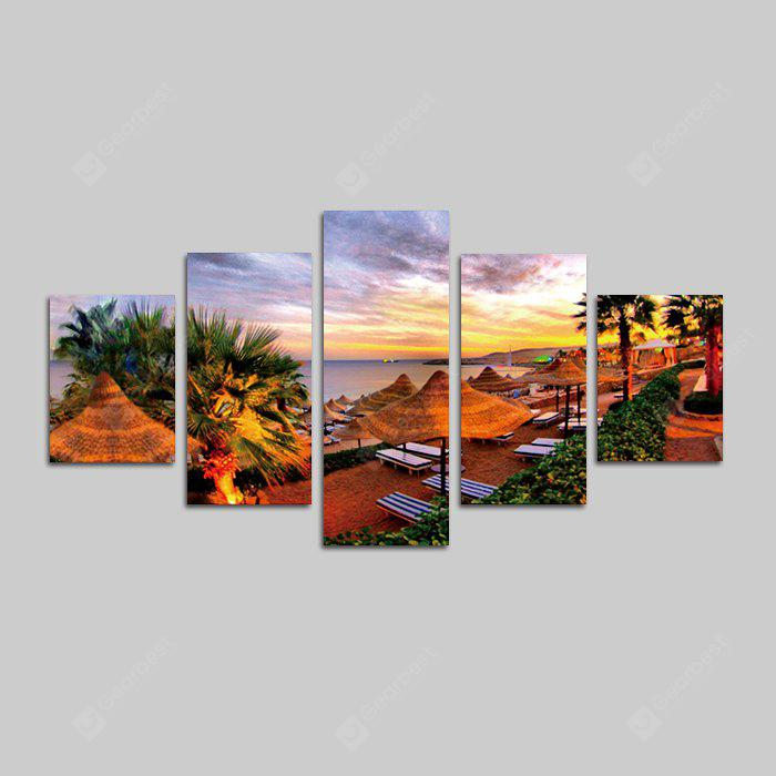 God Painting Pretty Resort Hotel Print Canvas Wall Decor 5PCS