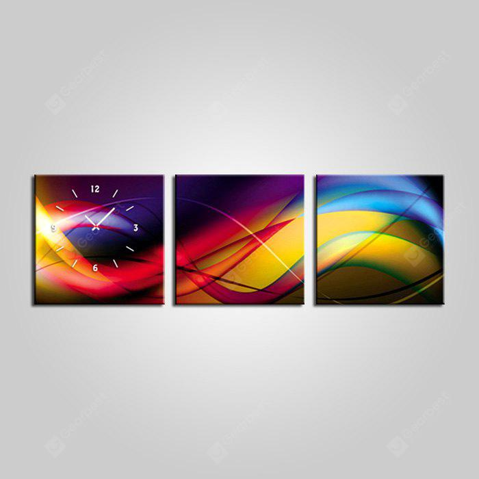 E - HOME Abstract View Canvas Wall Clock 3PCS
