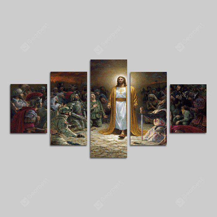 God Painting Frameless Canvas Print Wall Home Decor 5PCS