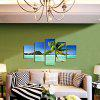 God Painting Blue Sea Sky Canvas Prints Unframed Wall Art 5pcs - COLORMIX