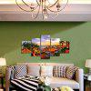 God Painting Pretty Resort Hotel Print Canvas Wall Decor 5PCS - COLORMIX