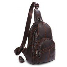YUANFANVIP Casual Anti-theft Genuine Leather Chest Bag