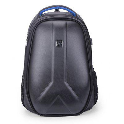 Men Trendy Water-resistant PC Backpack with USB Port