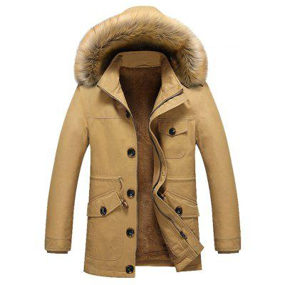 NIAN JEEP Male Stylish Handsome Thickening Fur Collar Jacket