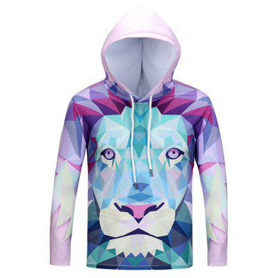 Mr.1991INC Miss.Go Lion Printing Hooded T-shirt for Men