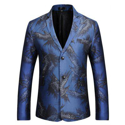 Classic Eagle Printing Two Buttons Blazer Jacket