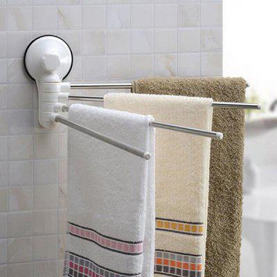 Rotatable Four-stick Towel Wall Rack with Free Punch SuckerOther Bathroom Accessories<br>Rotatable Four-stick Towel Wall Rack with Free Punch Sucker<br><br>Package Contents: 1 x Towel Wall Rack ( with Sucker )<br>Package size (L x W x H): 45.00 x 7.00 x 18.00 cm / 17.72 x 2.76 x 7.09 inches<br>Package weight: 0.4000 kg<br>Product size (L x W x H): 40.00 x 5.50 x 15.50 cm / 15.75 x 2.17 x 6.1 inches<br>Product weight: 0.3000 kg