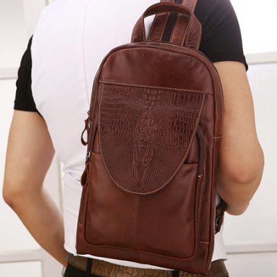 YUANFANVIP Multifunctional Leather Chest Bag Backpack