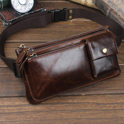 YUANFANVIP Retro Genuine Leather Waist Bag