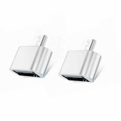 TOCHIC USB to Micro USB Male Adapter for USB Stick / Phone / Tablet etc - 2 PCS