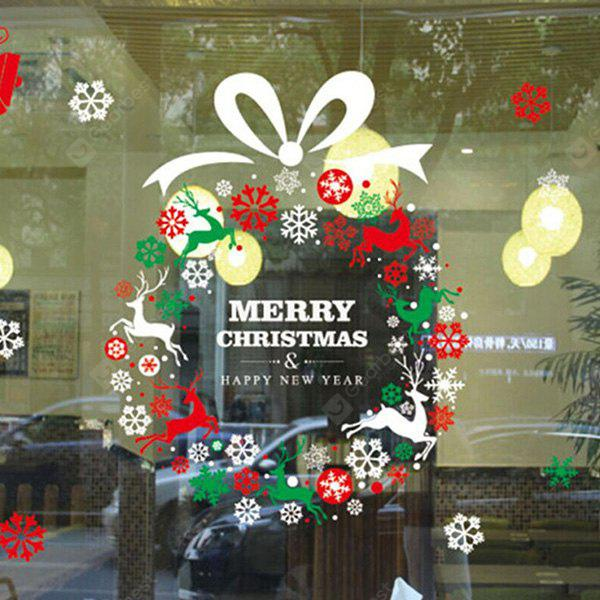 MCYH HY426 Christmas Wreath etiqueta de la pared
