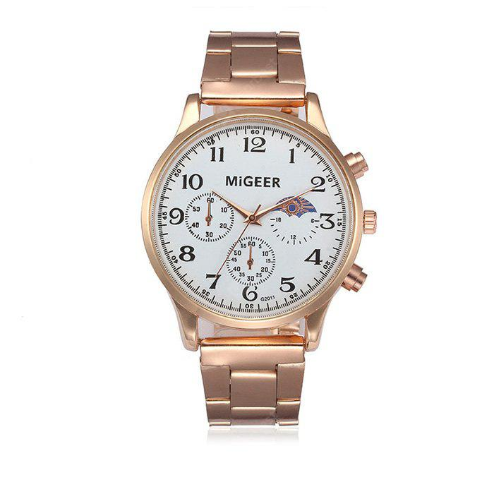 MIGEER 2011 Trendy Steel Band Men Quartz Watch