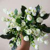 LmDec 17FZH04 Modern Artificial Small Bouquet 1PC - WHITE