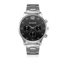 MIGEER 2009 Trendy Steel Band Herre Quartz Watch