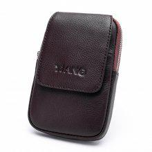 YUANFANVIP Fashion Genuine Leather Cellphone Waist Bag