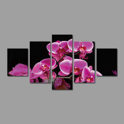 God Painting 1890 Orchid Flower Canvas Print 5PCS