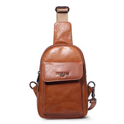 YUANFANVIP Leisure Genuine Leather Chest Bag