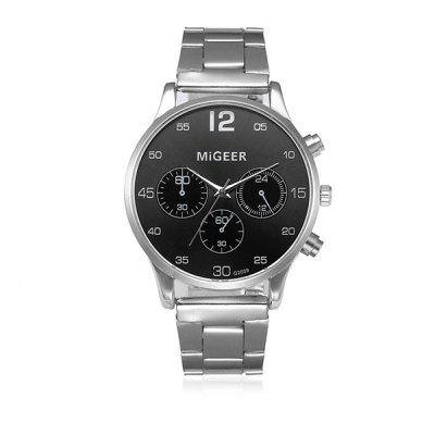 MIGEER 2009 Trendy Steel Band Men Quartz Watch