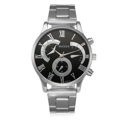 MIGEER 2012 Trendy Steel Band Men Quartz Watch