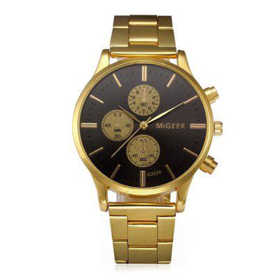 MIGEER 2024 Trendy Steel Band Quartz Watch