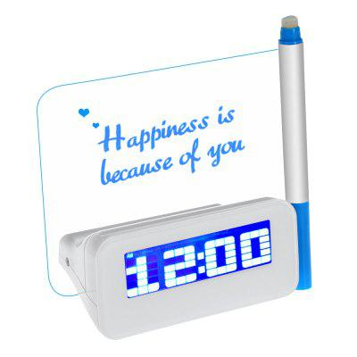 HSD114 Fluorescent Message Board Date Time Alarm Clock