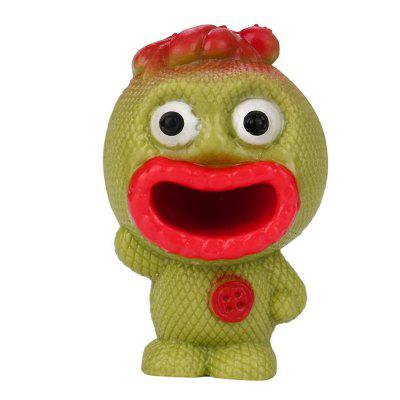 Buy RED Novelty Tricky Vent Anti-stress Squeeze Spit Tongue Doll Toy for $1.26 in GearBest store