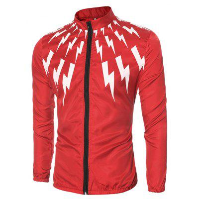 Fashion Printing Sunproof JacketMens Jackets &amp; Coats<br>Fashion Printing Sunproof Jacket<br><br>Closure Type: Zipper<br>Clothes Type: Jackets<br>Collar: Stand Collar<br>Embellishment: Others<br>Materials: Polyester<br>Occasion: Going Out<br>Package Content: 1 x Jacket<br>Package Dimension: 24.00 x 29.00 x 1.50 cm / 9.45 x 11.42 x 0.59 inches<br>Package weight: 0.1300 kg<br>Pattern Type: Others<br>Product weight: 0.1200 kg<br>Seasons: Autumn<br>Shirt Length: Regular<br>Sleeve Length: Long Sleeves<br>Style: Fashion<br>Thickness: Medium thickness