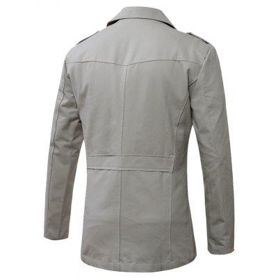 Fashion Turn Down Collar Trench CoatMens Jackets &amp; Coats<br>Fashion Turn Down Collar Trench Coat<br><br>Closure Type: Single Breasted<br>Clothes Type: Trench Coat<br>Collar: Stand Collar<br>Embellishment: Others<br>Materials: Cotton, Polyester<br>Occasion: Daily Use<br>Package Content: 1 x Trench Coat<br>Package Dimension: 42.00 x 35.00 x 4.00 cm / 16.54 x 13.78 x 1.57 inches<br>Package weight: 0.7000 kg<br>Pattern Type: Solid<br>Product weight: 0.6800 kg<br>Seasons: Autumn,Winter<br>Shirt Length: Long<br>Sleeve Length: Long Sleeves<br>Style: Fashion<br>Thickness: Medium thickness