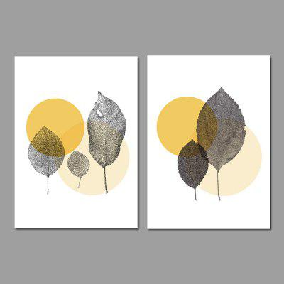 God Painting Canvas Prints Leaves Hanging Wall Art 2PCS