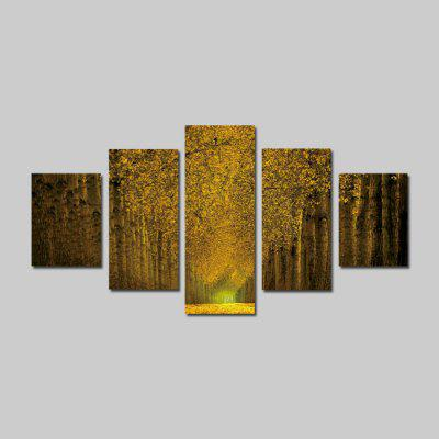 God Painting 1897 Beautiful Tree View Canvas Print 5PCS